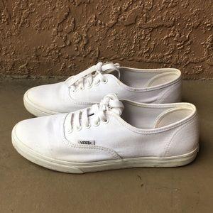 Women Vans White Shoes size 8